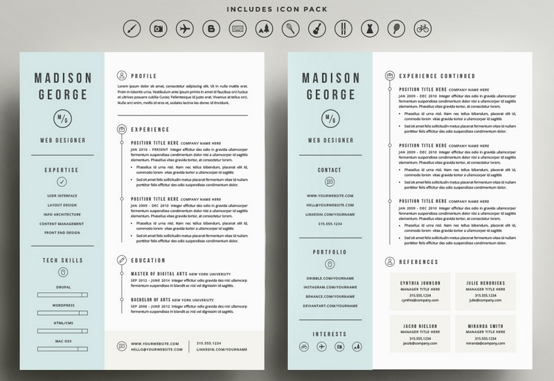 Cv Template Pages